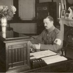 As Regent of Finland, at his desk in 1919.