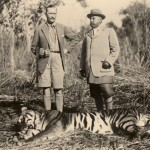 Hunting a man-eating tiger in the company of the Maharajah of Nepal in 1937.